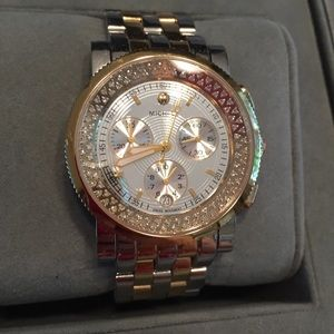Accessories - Limited edition Michele XL two tone diamond watch